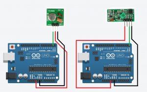 Схема подключения XD-RF-5V и FS1000A к Arduino