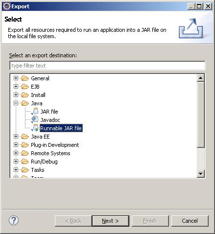 Eclipse - JAR приложение