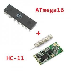 Схема подключения радиомодуля HC-11 к ATmega16