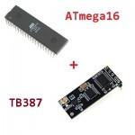 Подключение радиомодуля TB387 к ATmega16