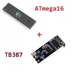 Схема подключения радиомодуля TB387 к ATmega16