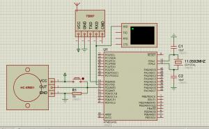 Схема подключения датчика движения (присутствия) HC-SR501 к ATmega16 (2)