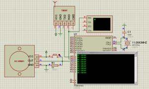 Схема подключения датчика движения (присутствия) HC-SR501 к ATmega16 (3)
