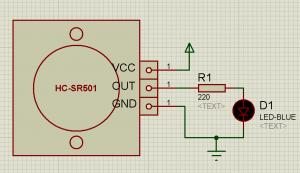 Схема подключения датчика движения (присутствия) HC-SR501 к LED