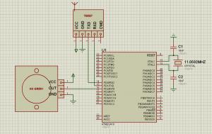 Схема подключения датчика движения (присутствия) HC-SR501 к ATmega16
