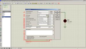 Схема подключения. ISIS Professional (Proteus 7) - Мигание светодиодом на ATmega16 (LED Blinking) — MicroPi (5)