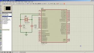 Схема подключения. USART/UART на ATmega16 - Обмен данными по последовательному каналу (1)