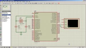 Схема подключения. USART/UART на ATmega16 - Обмен данными по последовательному каналу (2)