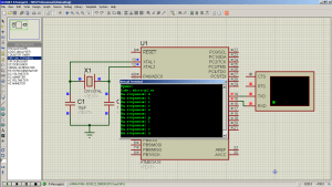 Схема подключения. UART на ATmega16 - Обмен данными по последовательному каналу (3)