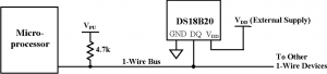 Подключение датчика температуры DS18B20 к микроконтроллеру