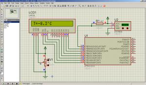 Подключение LCD на базе HD44780 и DS18B20 к ATtiny2313 ниже нуля