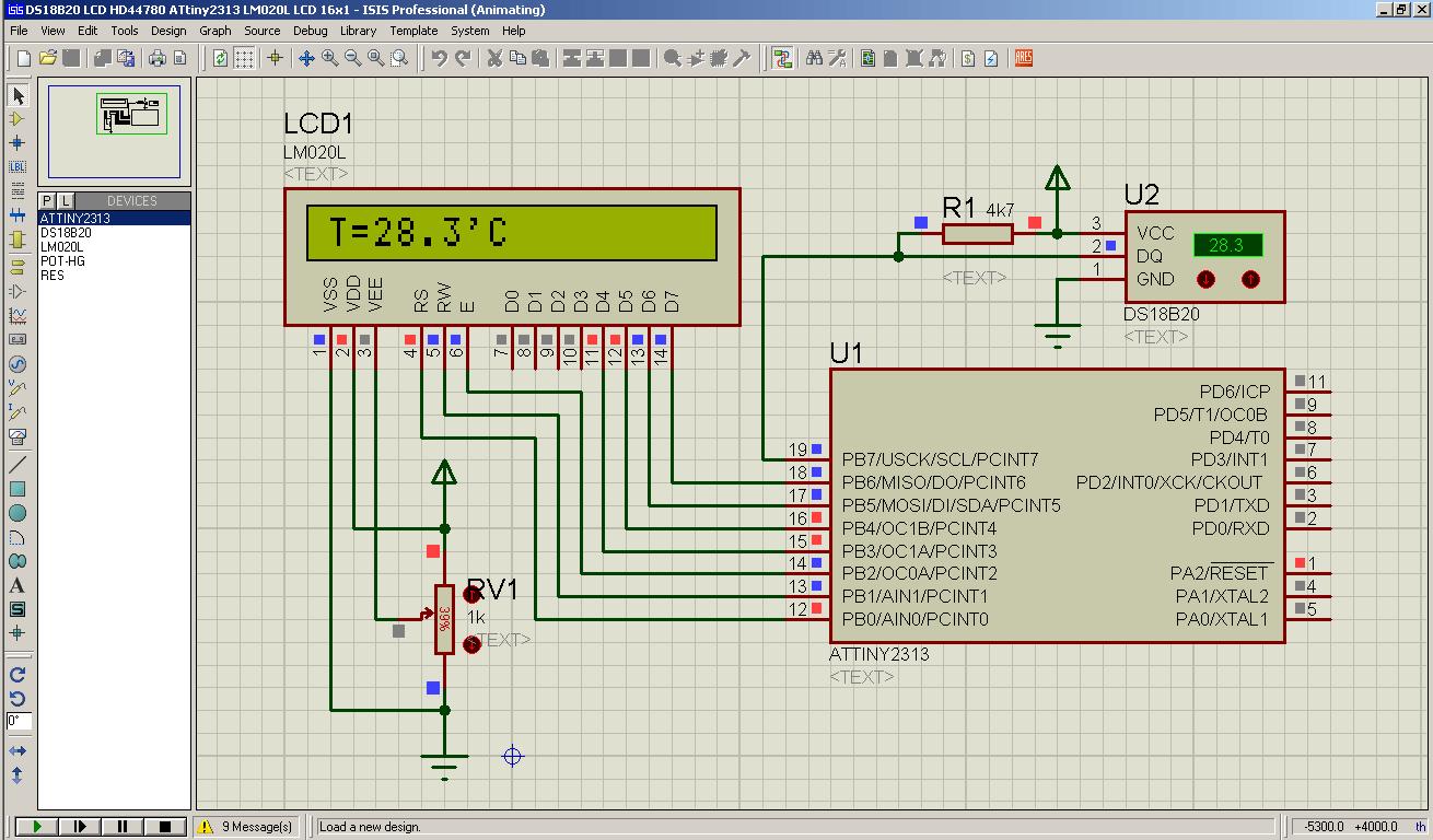 Temperatur Messung mit dem DS18B20