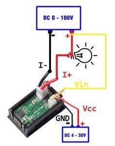 Схема подключения Вольтметр-Амперметра DSN-VC288 (9)