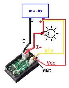 Схема подключения Вольтметр-Амперметра DSN-VC288 (8)