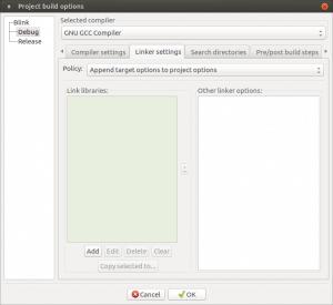 Установка и настройка Code::blocks на Banana Pi, Orange PI и Raspberry Pi под Ubuntu (11)