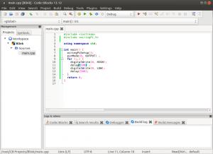 Установка и настройка Code::blocks на Banana Pi, Orange PI и Raspberry Pi под Ubuntu (7)