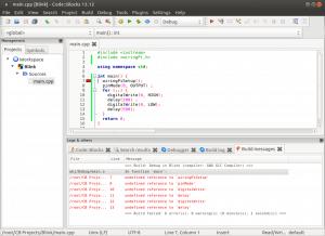 Установка и настройка Code::blocks на Banana Pi, Orange PI и Raspberry Pi под Ubuntu (8)