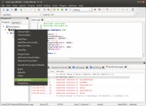 Установка и настройка Code::blocks на Banana Pi, Orange PI и Raspberry Pi под Ubuntu (9)