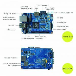 Banana PI M1 Plus/BPI-M1 Plus — одноплатный двухъядерный мини компьютер interface