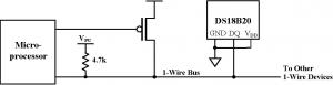 DS18B20 вариант подключения - так называемое паразитное подключение (паразитное питание)