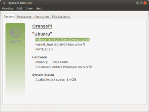 Ubuntu MATE 16.04 LTS Xenial Xerus 32 bit информация о ОС