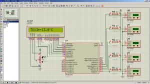 Подключение нескольких DS18B20 к ATmega8 на разные выводы (NxN Animating)