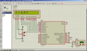 Подключение одного DS18B20 к ATmega8 (1x1 Animating) - Паразитное питание