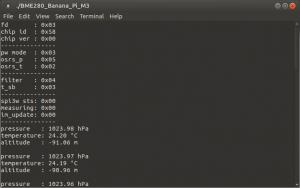 Подключение BMP280 к Orange Pi, Banana Pi, Raspberry Pi - Результат