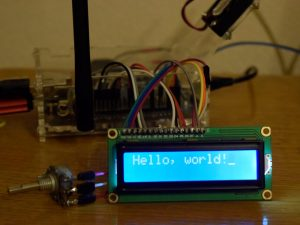 HD44780 к Orange Pi - Маленький курсор