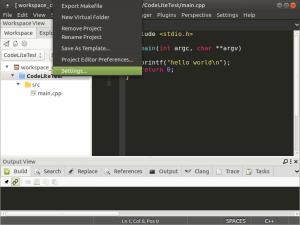 Установка и настройка CodeLite на Banana Pi, Orange PI и Raspberry Pi под Ubuntu (17)