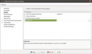 Установка и настройка CodeLite на Banana Pi, Orange PI и Raspberry Pi под Ubuntu (18)