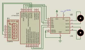 Машинка на радиоуправлении на базе ATtiny2313 (Схема)