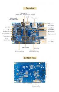 Orange Pi Plus 2E - мини компьютер с 16 ГБ eMMC и без SATA - info