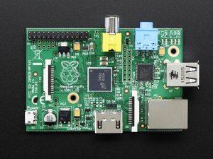 Raspberry Pi 1 Model B - вид сверху