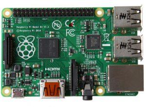 Raspberry Pi 1 Model B+ Plus - вид сверху