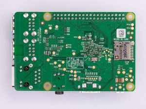 Raspberry Pi 1 Model B+ Plus - вид снизу