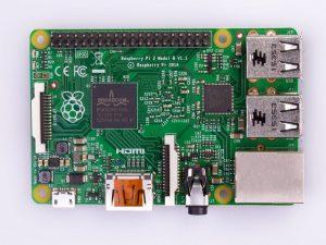 Raspberry Pi 2 Model B v1.2 - вид сверху