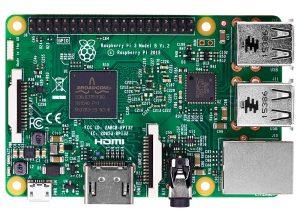 Raspberry Pi 3 Model B - вид сверху