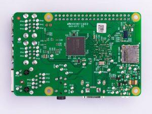 Raspberry Pi 3 Model B - вид сзади