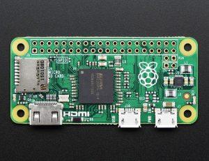 Raspberry Pi Zero V 1.2 - вид сверху