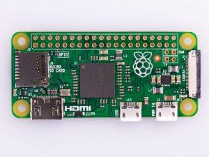 Raspberry Pi Zero V 1.3 - вид сверху