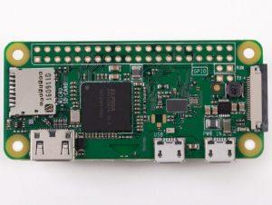 Raspberry Pi Zero W - вид сверху
