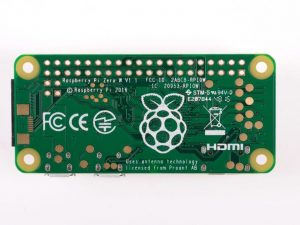 Raspberry Pi Zero W - вид снизу