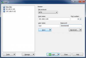 Подключение по SFTP с помощью WinSCP - Новое подключение (Host, Login, Password)