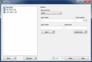 Подключение по SFTP с помощью WinSCP - Новое подключение (New site)