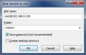 Подключение по SFTP с помощью WinSCP - Сохраняем сессию (Save session as site)