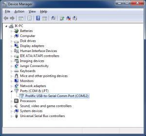 Подключение по UART с помощью PuTTY (TTL последовательный порт) - Список COM портов
