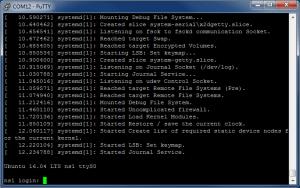 Подключение по UART с помощью PuTTY (TTL последовательный порт) - логин и пароль