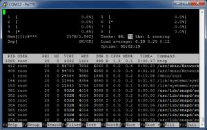 Подключение по UART с помощью PuTTY (TTL последовательный порт) - htop
