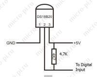 Герметичный датчик температуры DS18B20